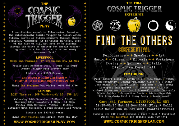 Cosmic Trigger Play - Flyer for November 2014 Shows
