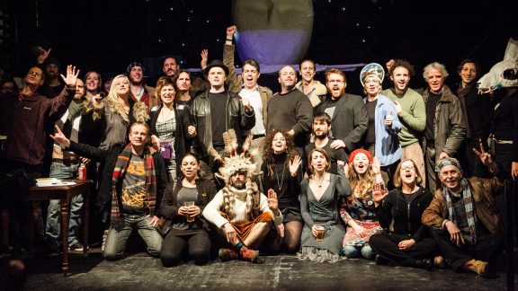 The cast & crew of Cosmic Trigger Play , taken by Andrew AB